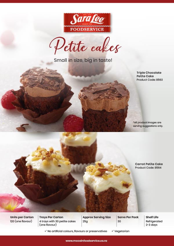 Sara Lee Petite Cakes Flyer